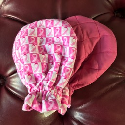 Pink Ribbon Flannel : Mauve Quilted
