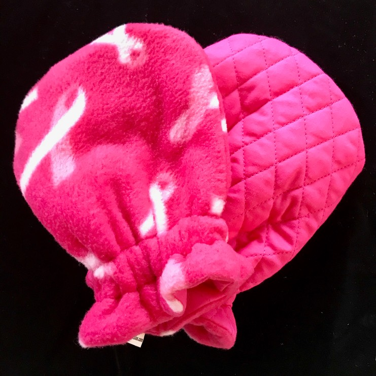 Pink Ribbon Fleece..Deep Pink Quilted